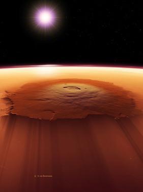 Olympus Mons, Mars by Detlev Van Ravenswaay
