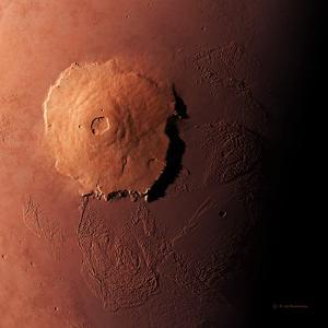 Olympus Mons, Morning View by Detlev Van Ravenswaay