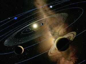 Saturn And Solar System by Detlev Van Ravenswaay