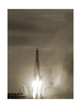 Sputnik 1 Launch by Detlev Van Ravenswaay