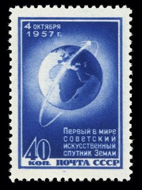 Sputnik 1 Stamp by Detlev Van Ravenswaay