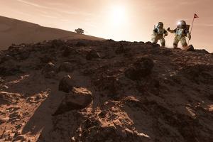 USA-China Exploration of Mars, Artwork by Detlev Van Ravenswaay