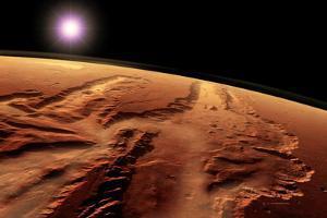 Valles Marineris, Mars by Detlev Van Ravenswaay