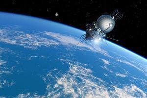 Vostok 1 Orbiting the Earth, 1961 by Detlev Van Ravenswaay