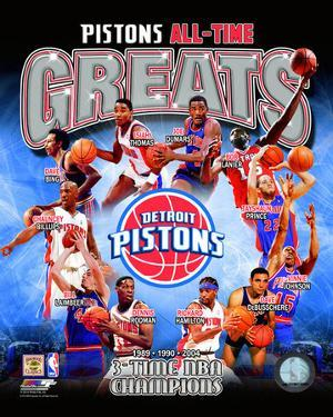 Detroit Pistons All Time Greats Composite