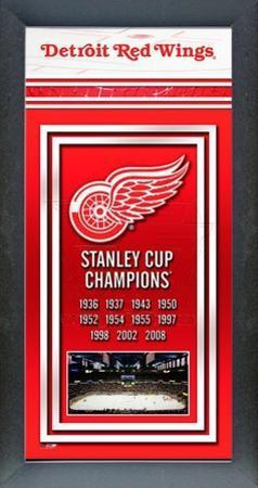Detroit Red Wings Framed Championship Banner