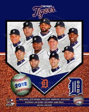 Detroit Tigers 2012 Team Composite