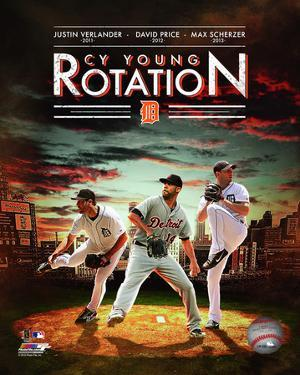 Detroit Tigers Cy Young Rotation Composite