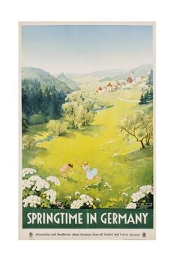 Springtime in Germany Poster by Dettmar Nettelhorst