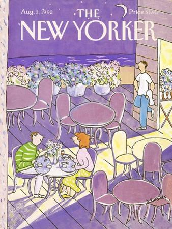 The New Yorker Cover - August 3, 1992 by Devera Ehrenberg
