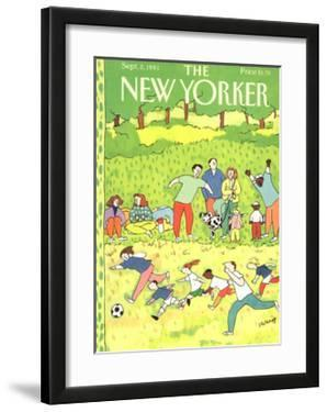 The New Yorker Cover - September 2, 1991 by Devera Ehrenberg