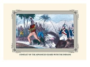 Conflict of the Advanced Guard with the Indians by Devereux