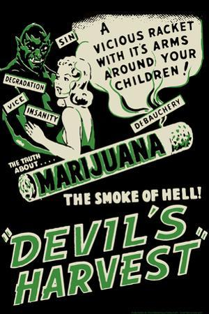 Devil's Harvest Movie by Retro-A-Go-Go Plastic Sign