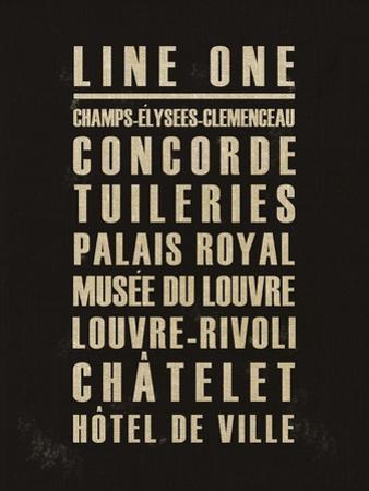 Paris Line One by Devon Ross