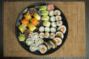 Sushi in Restaurant by Deyan Georgiev