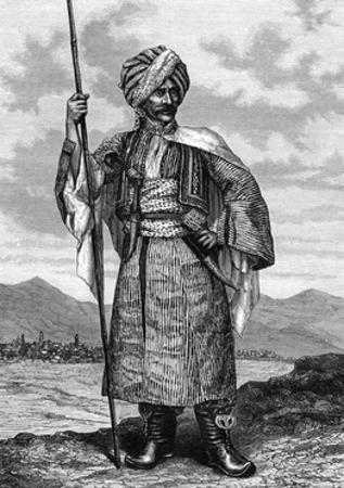 Kurdish Chief, 19th Century by Deyrolle