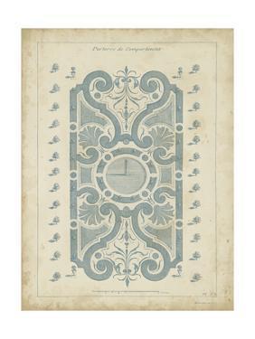 Garden Design in Blue I by DeZallier d'Argenville