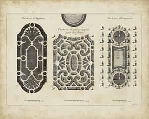 Garden Parterre II by DeZallier d' Argenville