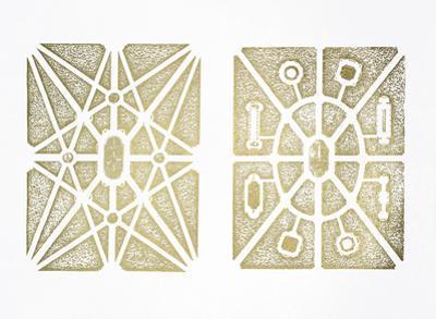 Gold Foil Garden Plan IV by DeZallier d'Argenville