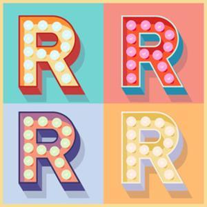 Simple And Clear Flat Lamp Alphabet - Letter R by dgbomb