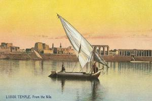 Dhow on the Nile by Luxor