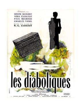 Diabolique, (AKA Les Diaboliques), French Poster Art, 1955