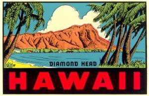 Diamond Head from Waikiki Beach, Hawaii