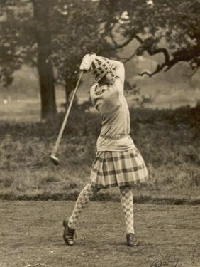 Diana Fishwick in Action at Stoke Poges Where She Won a Championship in 1927