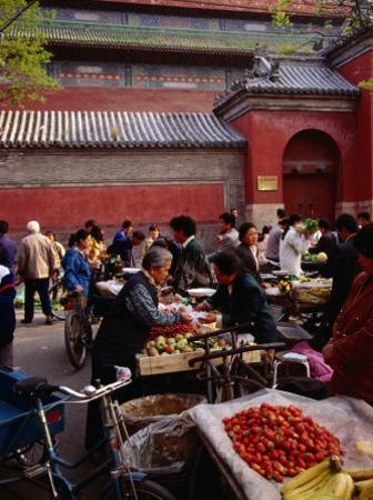 Bell Tower Street Market, Beijing, China by Diana Mayfield