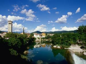 Cividale Del Friuli on the River Natisone, Udine, Friuli-Venezia Giulia, Italy by Diana Mayfield