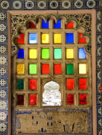 Coloured Window Detail in City Palace by Diana Mayfield