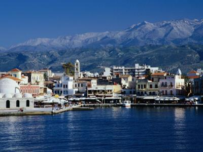 Harbour and Mosque of the Janissaries on Waterfront, Hania, Crete, Greece by Diana Mayfield