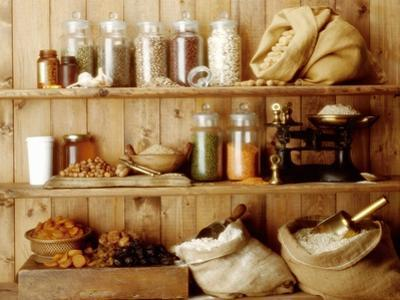 Pulses, Cereal Products and Dried Fruit on Shelves by Diana Miller