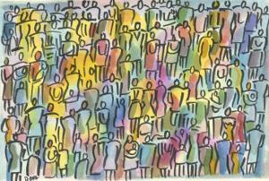 Crowd in Color by Diana Ong