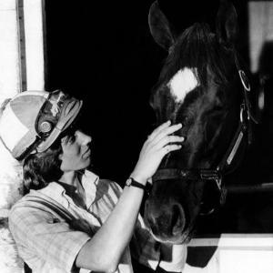 Diane Crump, the First Woman to Ride in the Kentucky Derby, with Her Horse Fathom, 1970