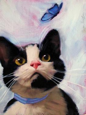 Cat and Butterfly by Diane Hoeptner