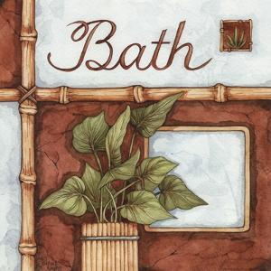 Bath (over a green plant) by Diane Knott