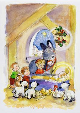 Away in a Manger, 1996 by Diane Matthes