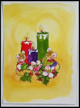 Mice with Candles by Diane Matthes