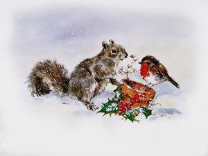 The Squirrel and the Robin by Diane Matthes