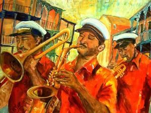 Big Brass Beat In New Orleans by Diane Millsap