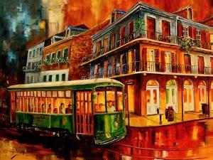 New Orleans Night Streetcar by Diane Millsap