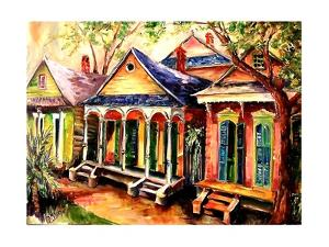 New Orleans Shotgun Houses by Diane Millsap