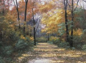 Autumn Road by Diane Romanello