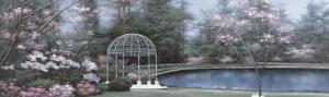 Lakeside Gazebo Panel by Diane Romanello