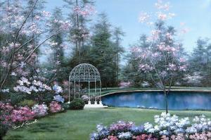 Lakeside Gazebo by Diane Romanello