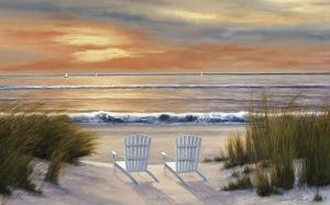 Paradise Sunset by Diane Romanello