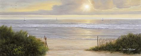 "40/""x16/"" SUMMER MOMENTS I by DIANE ROMANELLO SEASCAPE CANVAS"