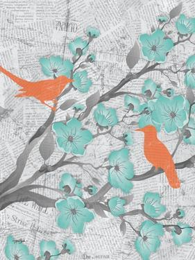 Cherry Blossom Birds 5 by Diane Stimson