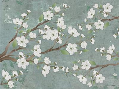 Cherry Blossoms Gray
